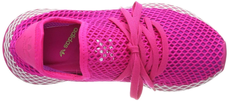 adidas Damen Deerupt Runner W Fitnessschuhe, FlashRose bonbonBlanc