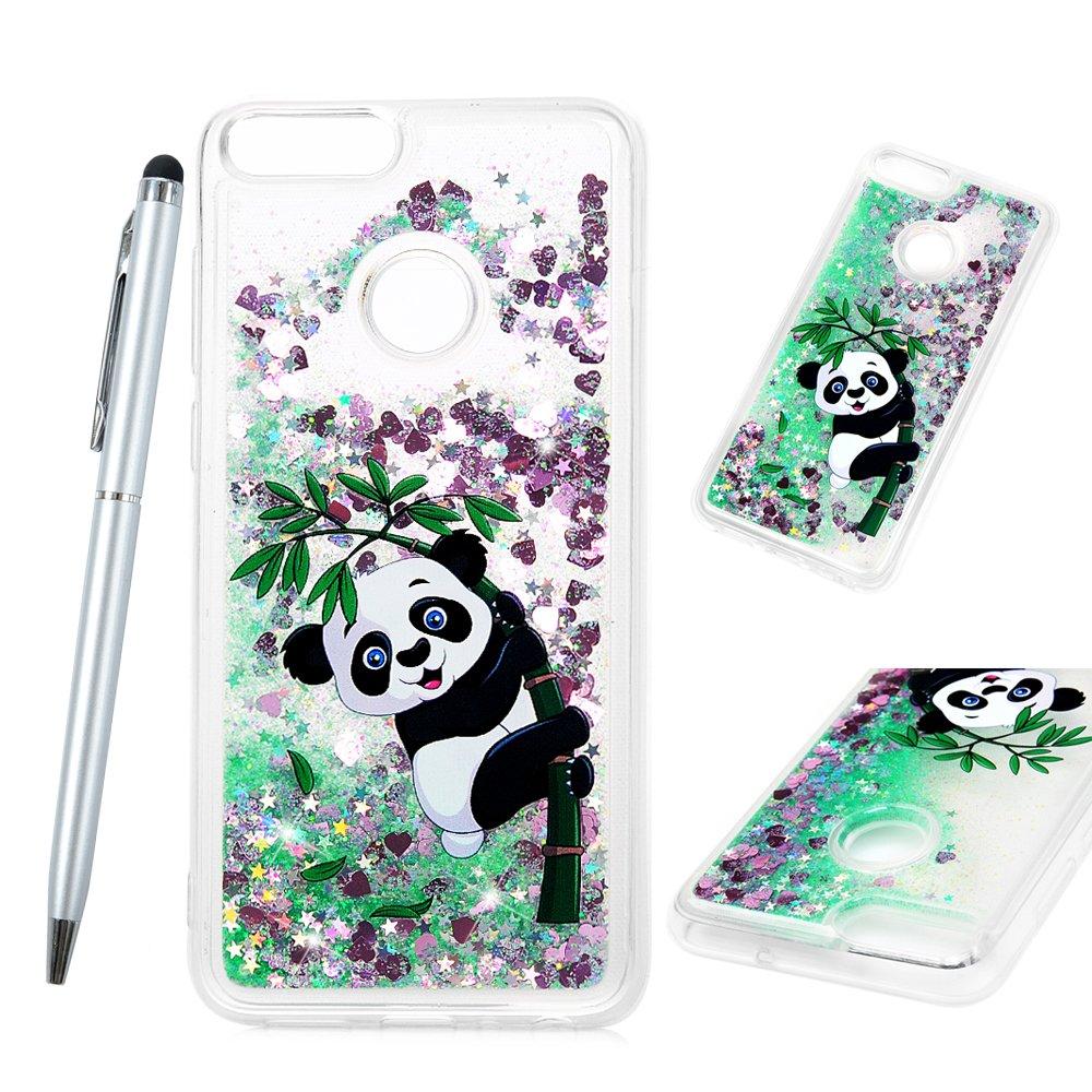 GuardGal Huawei p Smart Coque, Coque de Protection en Gel pour Coque Housse de Protection en Silicone pour Té lé phone Housse de Protection en TPU Souple pour Huawei p Smart Licorne Tient Un Panda GG-ZH2155DL0299