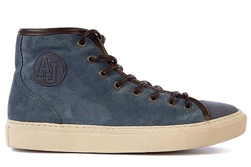 Uomo Sneakers Nuove Scarpe Alte In Blu Armani Jeans Amazon Camoscio qwEI1A17x