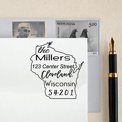 Self Inking custom return address rubber stamps gift