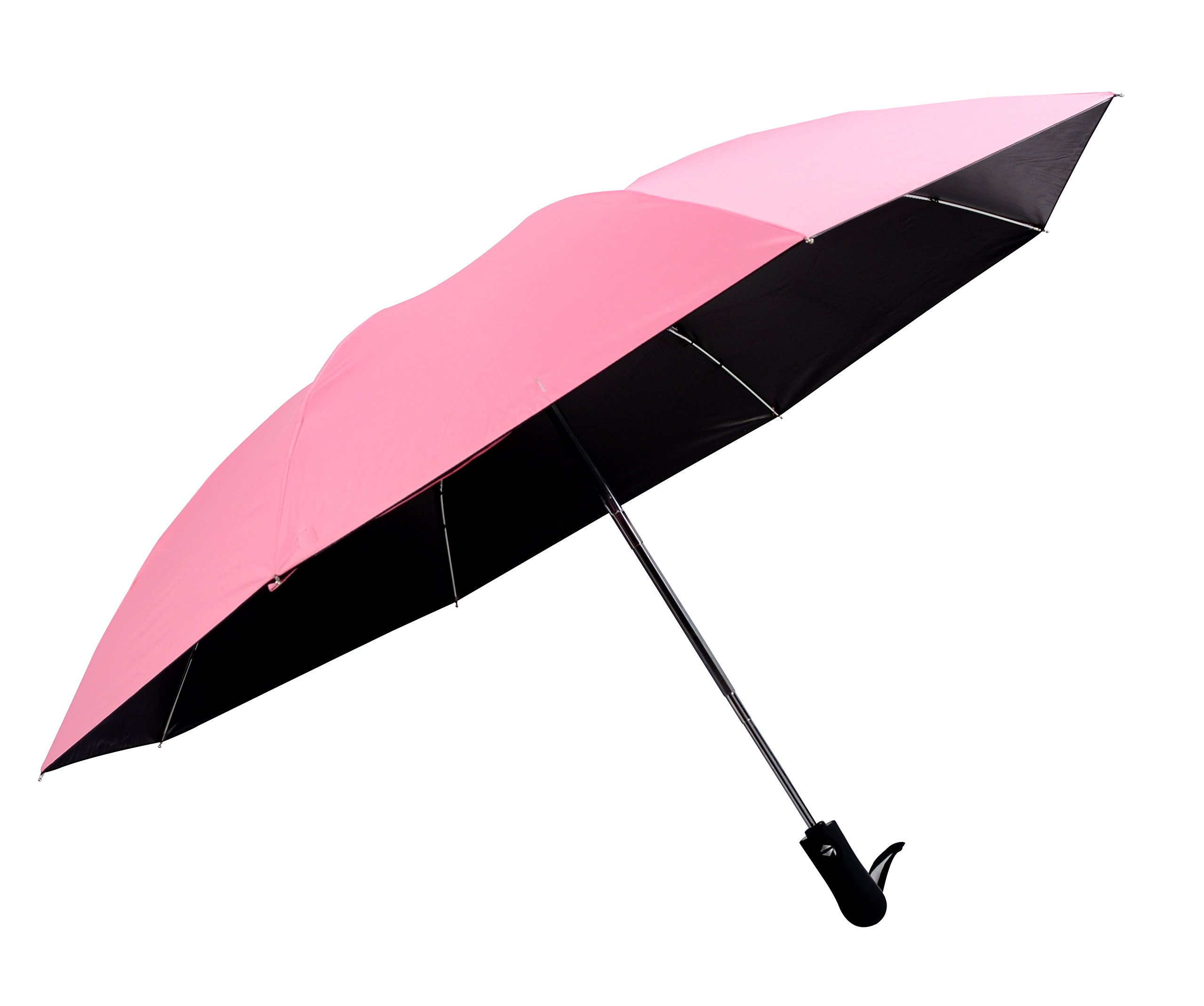 Auto Open Close Foldable Double Layer Inverted Umbrella Travel Use Car Use UV Protection Windproof (Rose red)