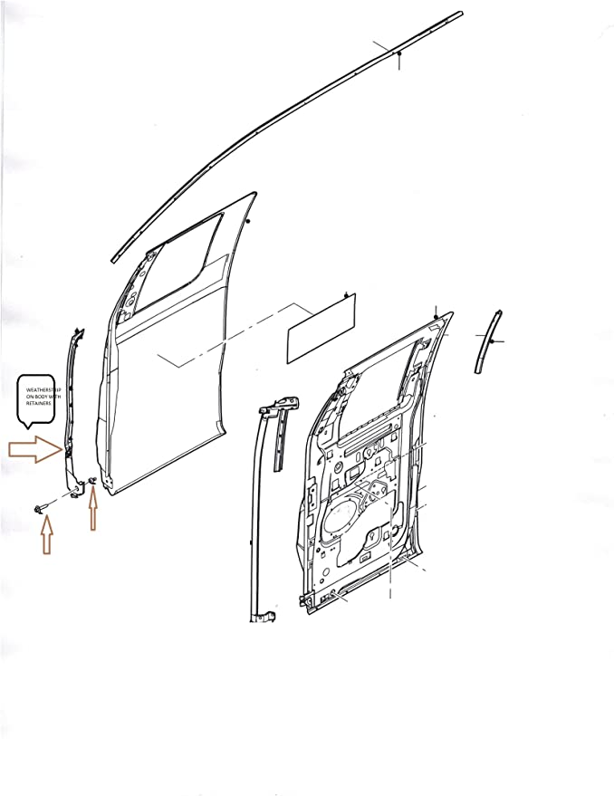Genuine Ford 9L3Z-1525325-B Weatherstrip
