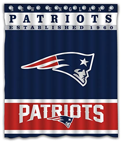 Sonaby Custom New England Patriots Waterproof Fabric Shower Curtain For Bathroom Decoration 60x72 Inches