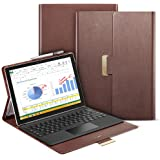 ESR Intelligent Series Folio Stand Case with Buckler for Secure Closure, Compatible with Surface Pro 4(Brown)