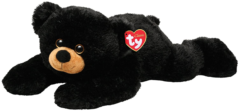 Ty 7150063 Paws - Oso de peluche, 33 cm, color negro