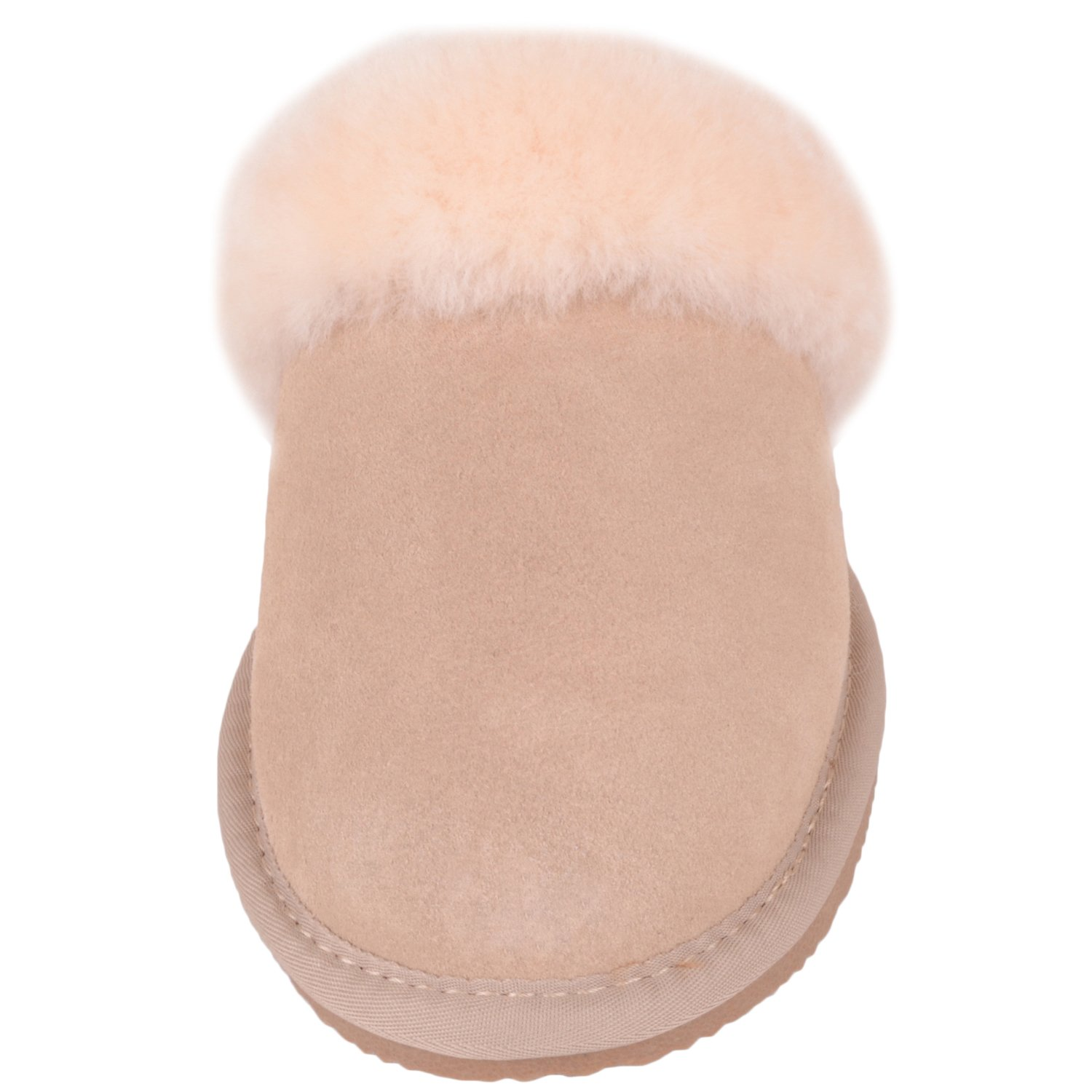 Snugrugs Damen Mule with Sheepskin Sheepskin Sheepskin Cuff and Rubber Sole Hausschuhe Beige 6e605b