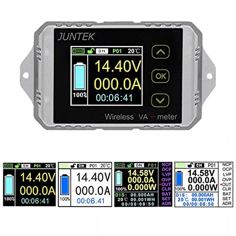 qisuw multifunction wireless vat1200a bi directional volt ammeter rh amazon com
