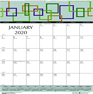 product image for House of Doolittle 2020 Monthly Wall Calendar, Geometric, 12 x 12 Inches, January - December (HOD3491-20)