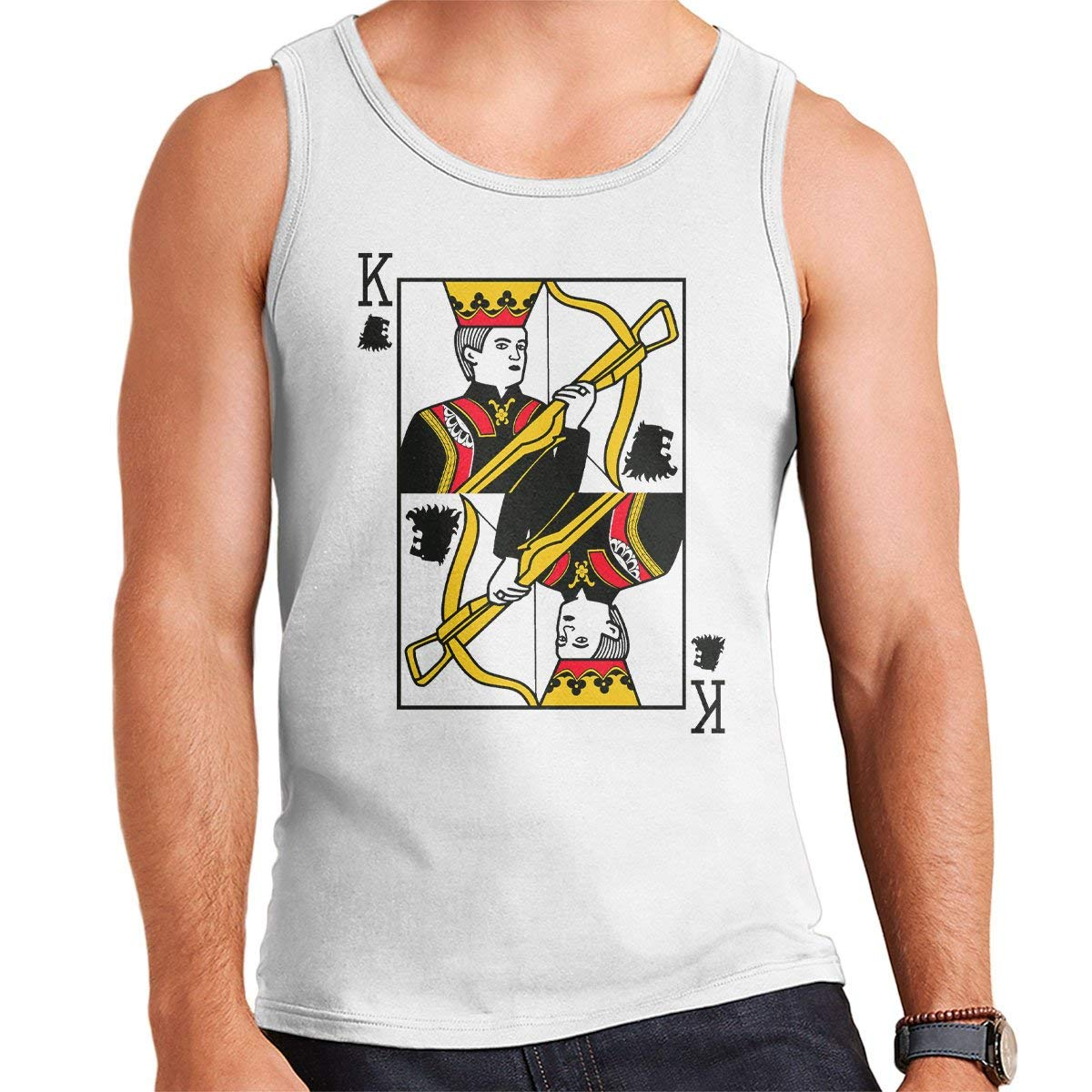 King Joffrey Playing Card Game of Thrones Mens Vest