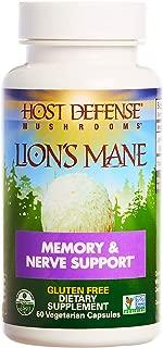 product image for Host Defense, Lion's Mane Capsules, Promotes Mental Clarity, Focus and Memory, Daily Mushroom Supplement, Vegan, Organic, 60 Capsules (30 Servings)