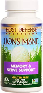 Host Defense, Lion's Mane Capsules, Promotes Mental Clarity, Focus and Memory,