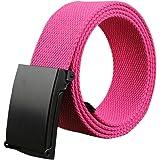 Gespout Ceinture Homme Femme Tissu Rose rouge Casual Sans métal 110cm Pour  Sports Voyages Shoppings Jeans 4a5b130a472