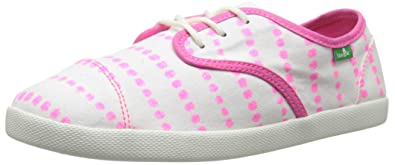 Kids Lil Mollie Prints Laced Shoe (Toddler/Little Kid/Big Kid), White/Hot Pink Dots, 6 M US Big Kid Sanuk