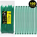 Nylon Zip Ties Heavy Duty- 8 Inch Green,Multi-Purpose Self Locking Cable Ties, Ultra Strong Plastic Wire Ties with 50 Pounds