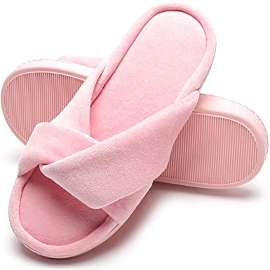 2088c76ff0 Fuzzy Spa Slippers Anti Slip Slippers for Bedroom Great Gift Pink S