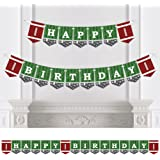 End Zone - Football - Birthday Party Bunting Banner - Sports Party Decorations - Happy Birthday