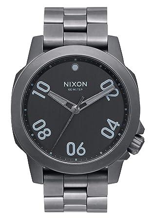 Nixon Reloj Analógico para Hombre de Cuarzo con Correa en Acero Inoxidable A468-632-00: Amazon.es: Relojes