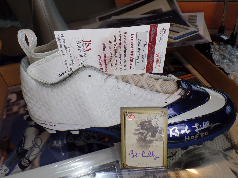 Bob Lilly JSA Coa Autograph Lot Nike Shoe Superbad Pro Autographed Signed Dallas Cowboys