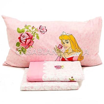 Lenzuola Flanella Disney Caleffi.Completo Lenzuola Di Flanella Disney Caleffi Princess Rose Singole E