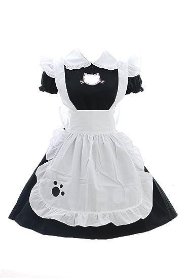 schwarz Anime 635 JL Maid Neko Gothic Cat Katze Zofe Zimmermädchen 6gYbf7yv
