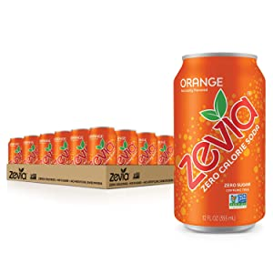 Zevia Zero Calorie Soda Cans, Orange, 288 Fl Oz (Pack of 24)