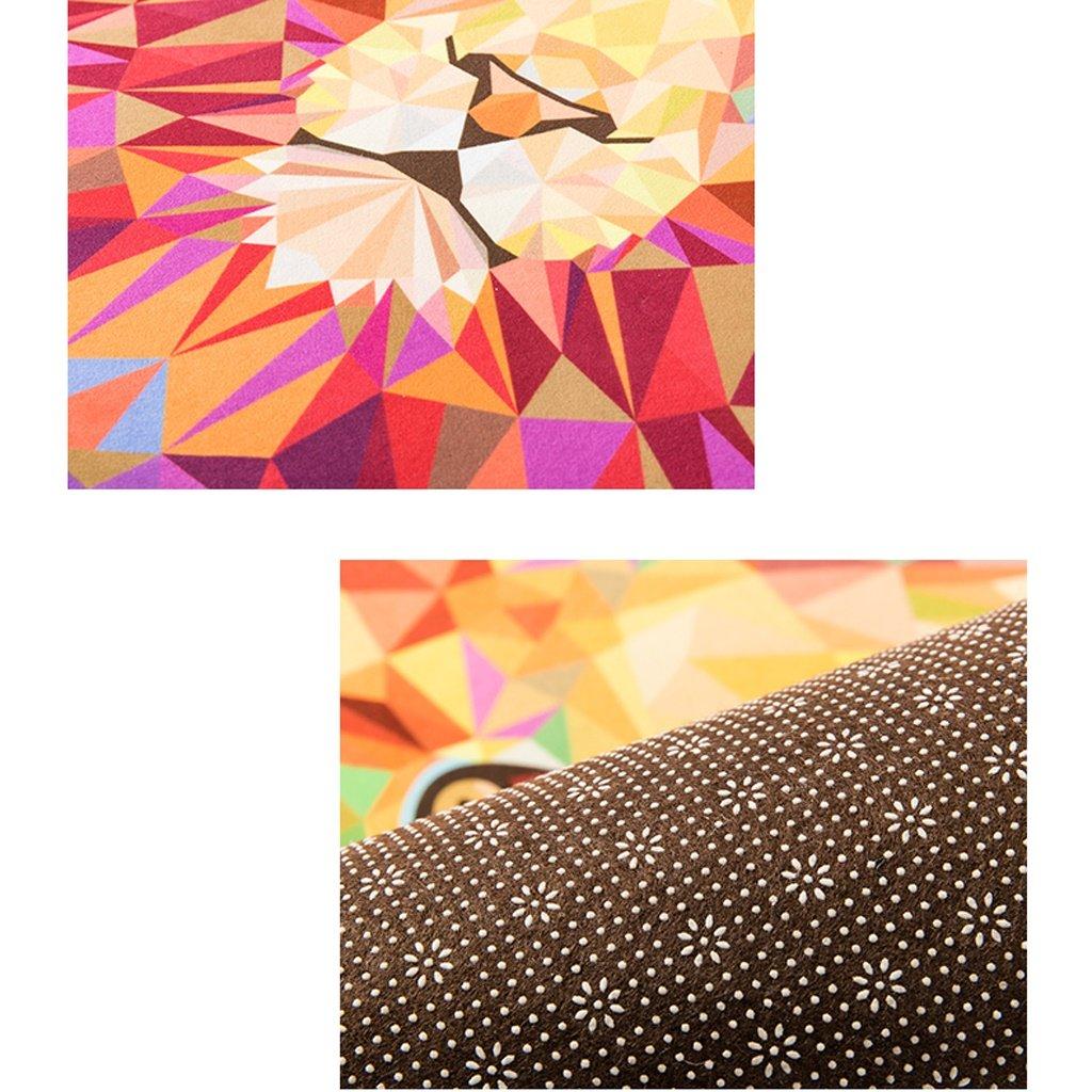 Diameter 60cm good Thing Teppich//Teppich Nordic Cartoon Tier Wolf head rund Teppich Schlafzimmer Nachttisch Wohnzimmer Couchtisch Home Haarverdichtung Computer Stuhl Teppich Krabbeldecke Nylon