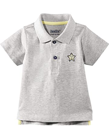 s.Oliver Schick Schlichtes Polo Shirt Kurzarm in Hellgrau Melange f/ür Boys Baby 5933