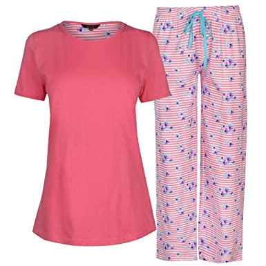 Miso Table Pyjama Set Ladies Tops Pajamas Womens Sleepwear Pink UK 8-10 ( Small af4a68d79f
