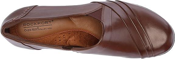 Womens Rockport Cobb Hill Abbott Slip On Leather Pumps New Black CH3041 Wide
