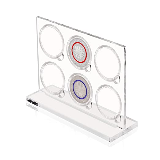 Acryl Präsentationsbox Für 6 X 5 Euro Münze Mit Münzkapsel Für