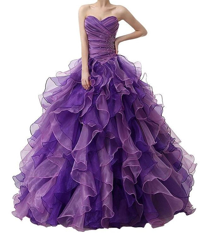SimpleDressUK Women's Sweetheart Rhinstones Beadings Colored Ball Dresses