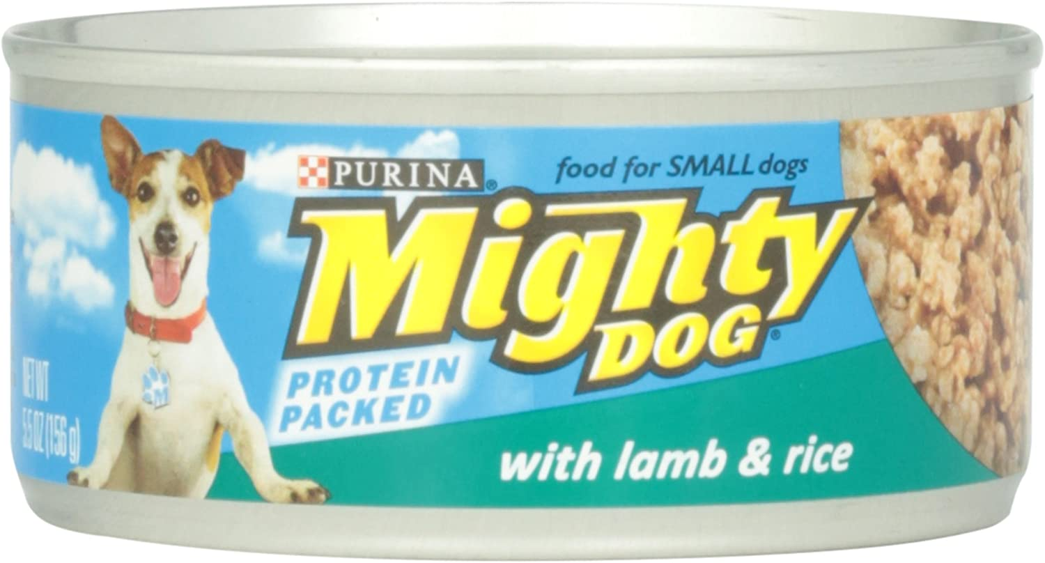 Purina Mighty Dog Wet Dog Food with Lamb and Rice Can, 5.5 oz
