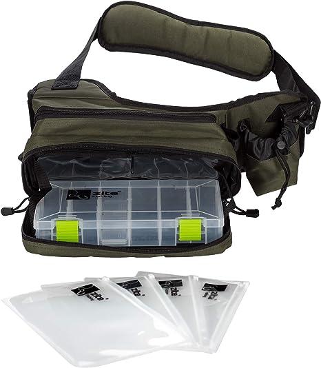 Zite Fishing Sling-Bag - Bolso Bandolera para Pesca (con Caja de ...