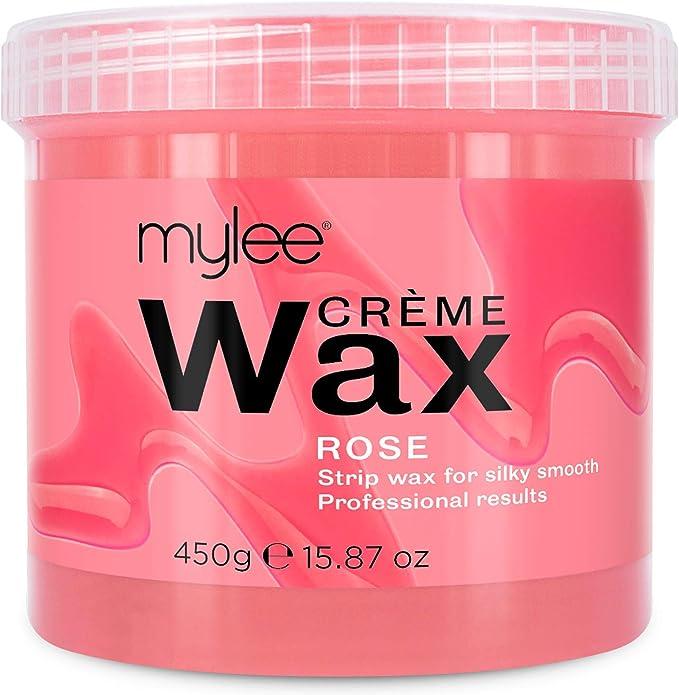 Mylee Cera De Rosa Suave en Crema para Pieles Sensibles 450 g, Pote de Crema Depilatoria para Eliminar Vello, Ideal para Cuerpo, Se Puede Calentar en el Microondas o en un Calentador