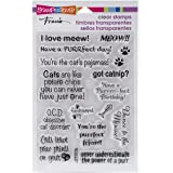 Stampendous Rubber Perfectly Clear Stamps 4-inch x 6-inch-Cat Sayings