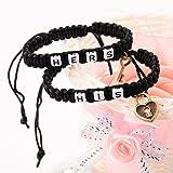 Morenitor Couple Bracelets Handmade Key and Lock