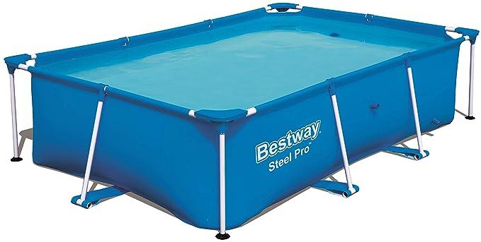 Bestway Steel Pro Piscina Desmontable Tubular Infantil, 259 x 170 x 61 cm