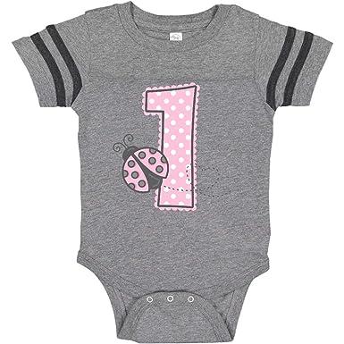 8b66bf15 Amazon.com: inktastic - Pink Ladybug 1st Birthday Infant Creeper 1d278:  Clothing