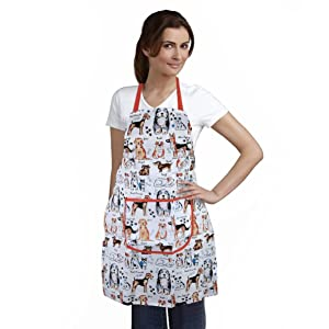Home-X Dog Print Apron