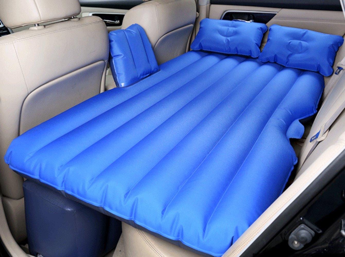 ERHANG Luftbetten Betten Hinteres Sitz-SUV-Auto-aufblasbares Bett-Reise-Bett-Erwachsenes Geteiltes Bett,DarkBlau