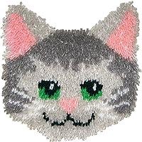 Huggables Animal MCG Textiles Kitty Almohada Latch Hook Kit