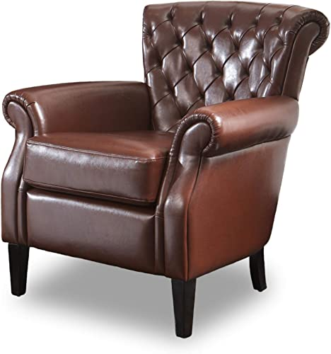 Cheap Christopher Knight Home Franklin Tufted Bonded Leather Club Chair living room chair for sale