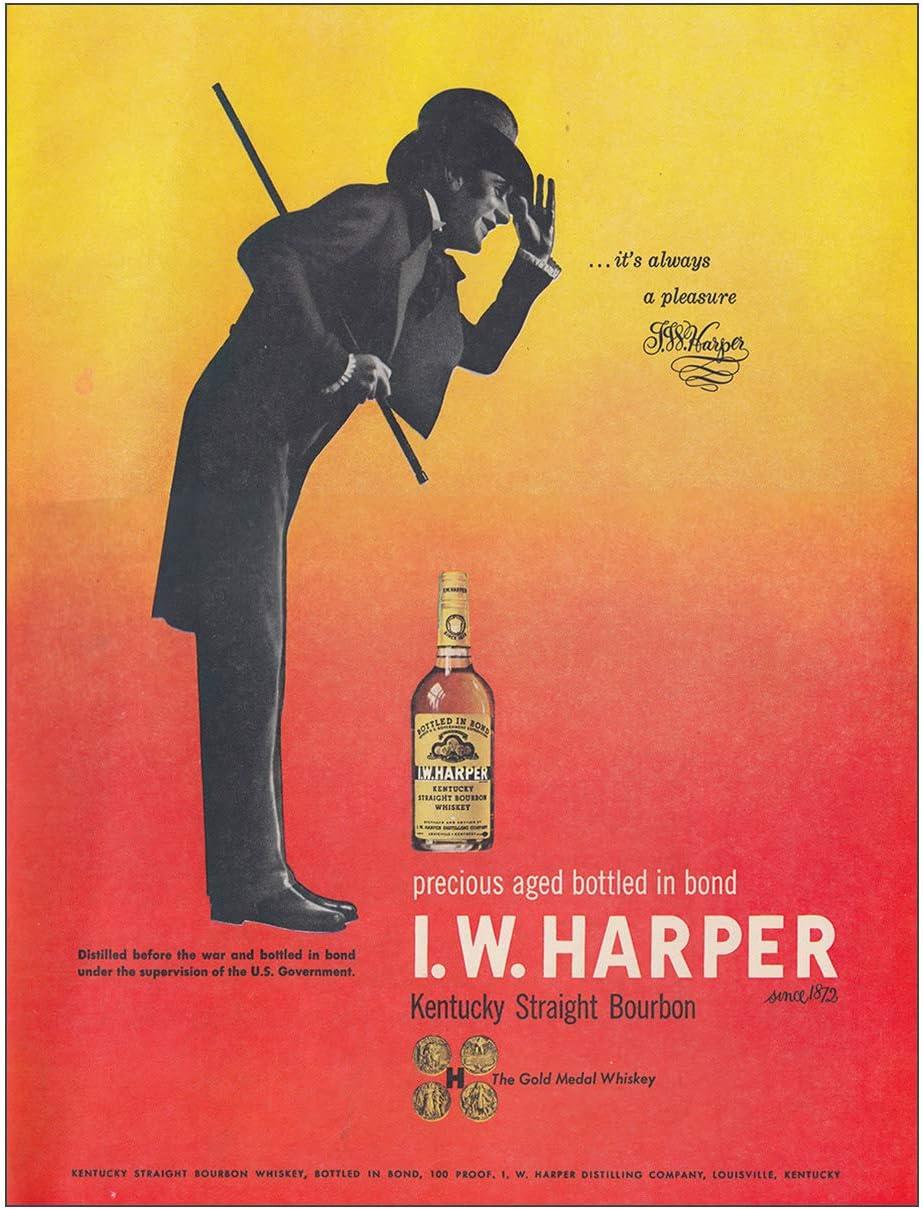 Harper Whiskey Print Ad W Vintage 1962 I