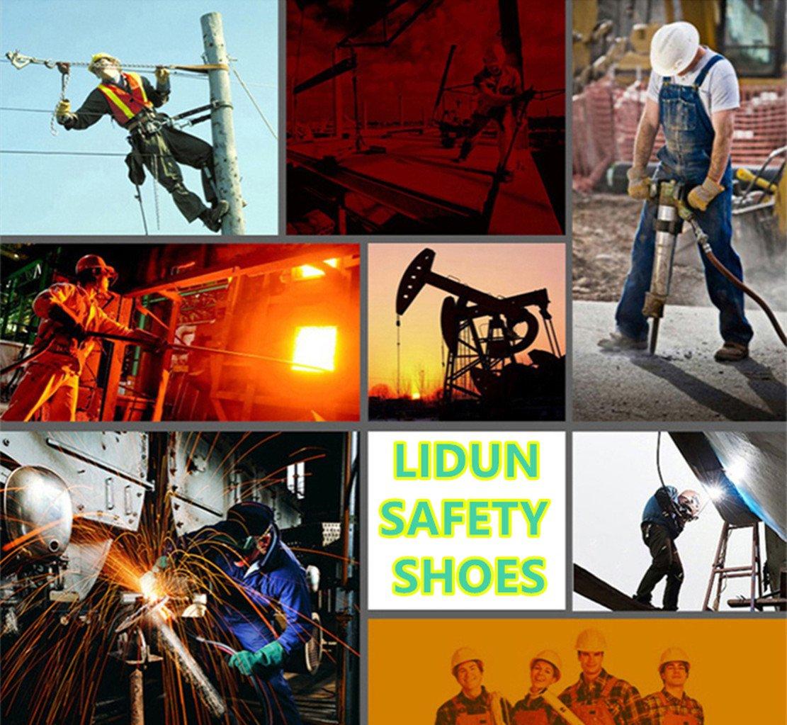 LIDUN Unisex Breathable Steel Toe Shoes Men Steel Toe Boots Womem Steel Toe Sneakers (US Men 9, LD01) by LIDUN (Image #6)