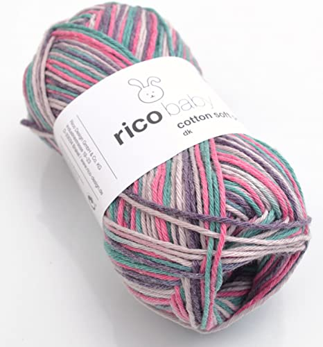 Baby lana Rico Baby Cotton Soft Print dk Color 20, de mezcla de ...