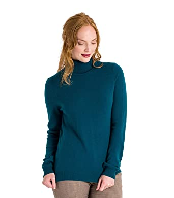 06f73220413d Womens Cashmere and Merino Polo Neck Knitted Jumper  Amazon.co.uk  Clothing