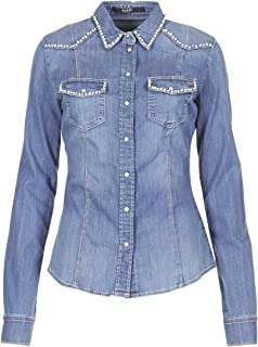 Guess Denim Shirt jewerely Blu XS