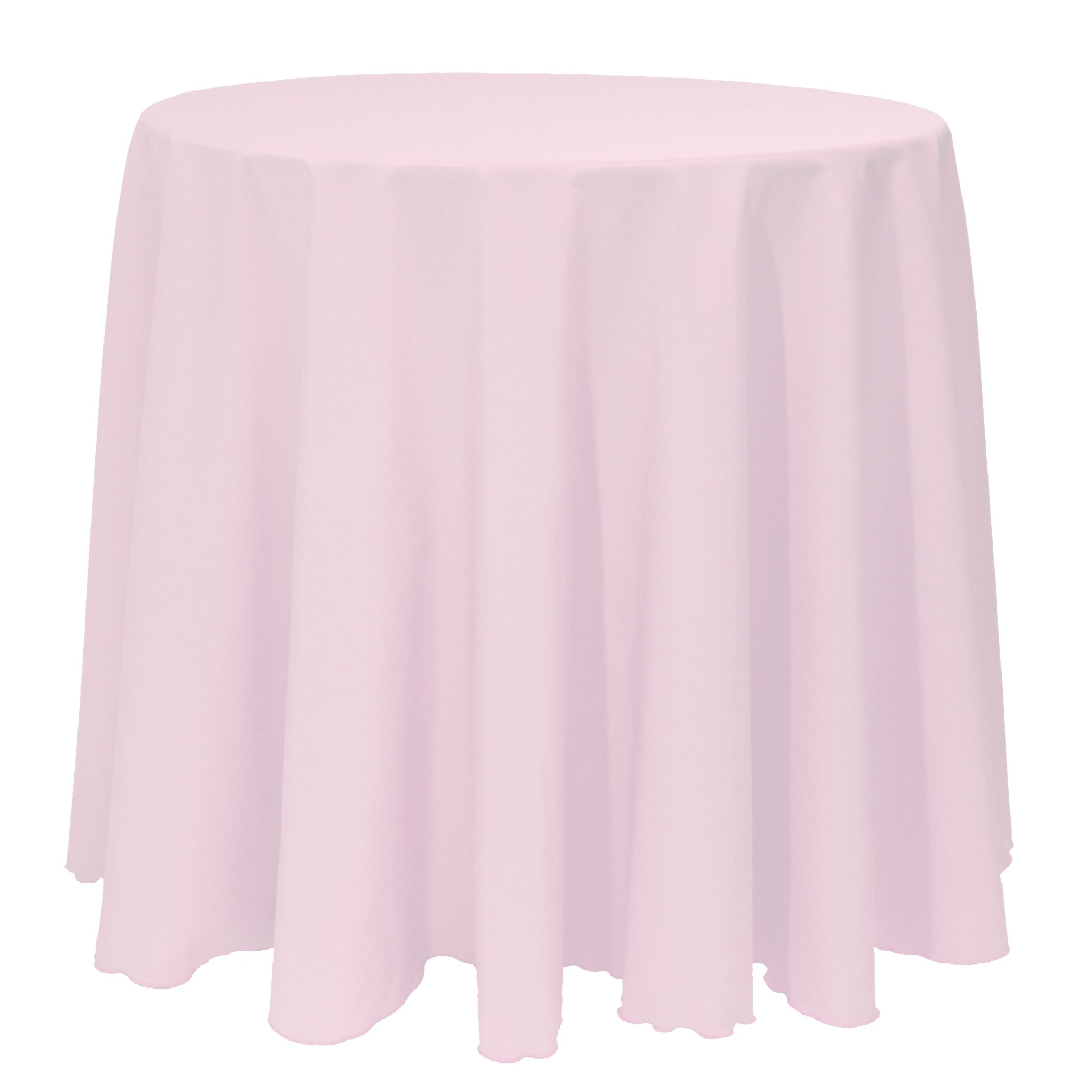 Ultimate Textile (5 Pack) 90-Inch Round Polyester Linen Tablecloth - for Wedding, Restaurant or Banquet use, Ice Pink