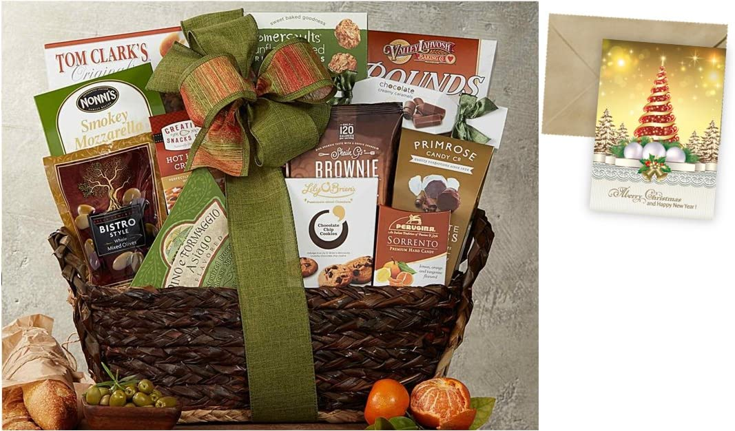 Gourmet Choice Gift Basket for Christmas and personalized card mailed seperately CD3243199