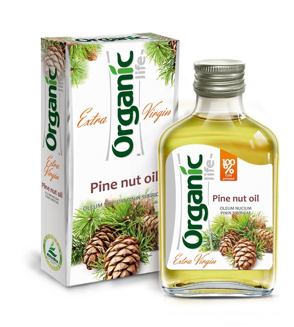 Extra Virgin Siberian Pine Nut Oil 3.4 fl oz/100 ml Organic Cold Pressed Unrefined Raw No GMO